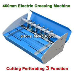 Free Shipping Blue New 18inch 460mm Electric Creaser Scorer Perforator 3 in1 combo Paper Creasing Perforating 3 Function Machine