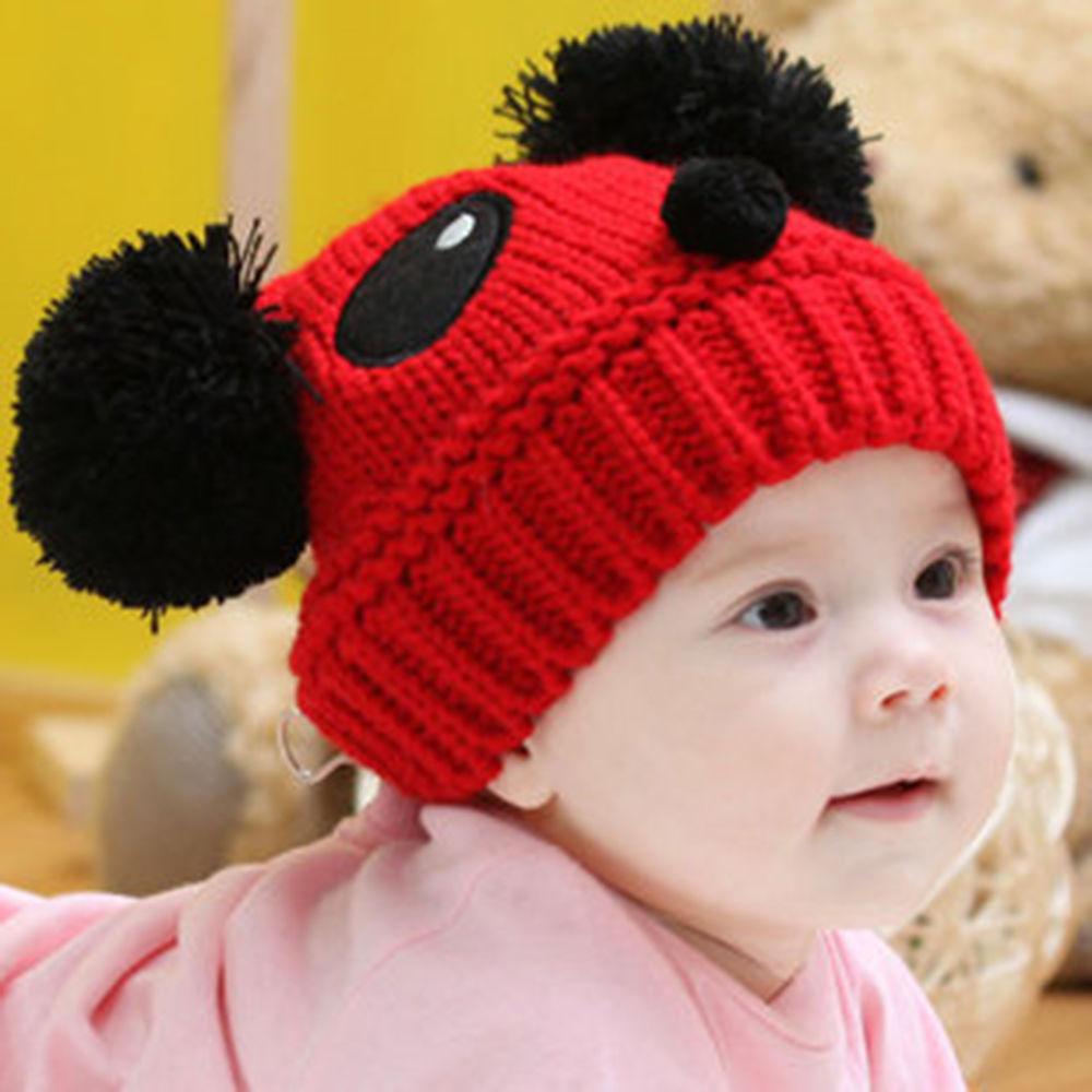 BomHCS Kids Baby Toddler Beanie Winter Warm Hooded Scarf Earflap Knitted Cap Girls Boys