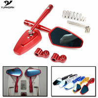 Universal Adjuster Side Mirror Motorcycle Mirror Scooter Rearview Mirror For HONDA CBR 900 919 929 600RR