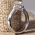 1 Carat ct F Color Lab Grown Moissanite Diamond Engagement Wedding Ring Solid 14K 585 White Gold For Women