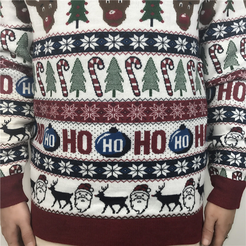 Funny Light Up Ugly Christmas Sweater for Men and Women Cute Reindeer Santa Patterned Xmas Pullover Jumper Plus Size S-2XL 8