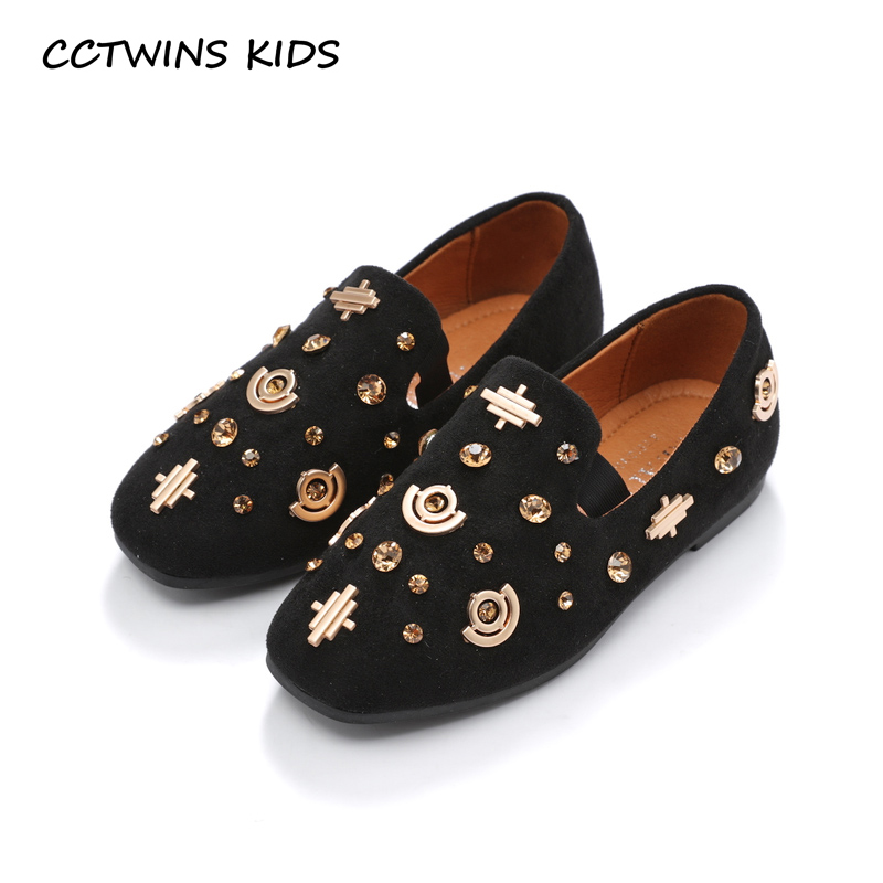 CCTWINS KIDS 2018 Autumn Children Rhinestone Loafer Baby Girl Fashion Pu Leather Flat Toddler Brand Slip On Shoe GL1950 adidas performance natweb i slip on shoe toddler