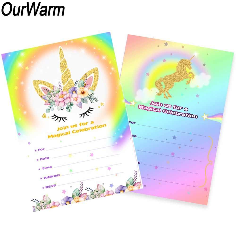 Our Warm 10 Uds Tarjeta De Invitación De Cumpleaños
