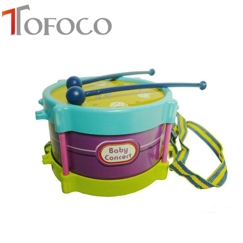 Plastic Toy Musical Instruments : Tofoco pcs kid s educational roll drum musical instrument