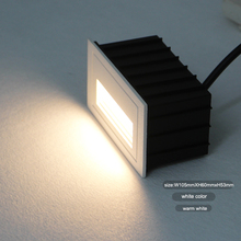 indoor and outdoor IP65 waterproof stair wall light, led step lamp 2W input AC85-265V warm,cool white