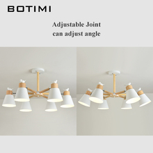 New Arrival LED Chandelier For Living Room White Wooden Lustre Black Metal Chandelier Modern Lustres Birds E27