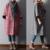 Novo 2015 inverno e babados manga plissada elegante casual solto de lã plus size plus size trincheira outerwear casaco de tweed de lã