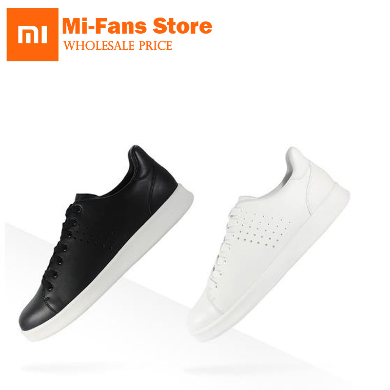 New Xiaomi Mijia Leisure Genuine Leather Shoes Fashionable Design Waterproof for Men Woman Shoes Can work