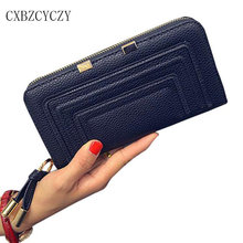 2017 New Womens Wallets and Purses Leather Wallet Women Luxury Brand Zipper Hand bag Dollar Price Portefeuille Femme 3 Colors