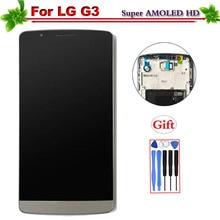 Super Amoled для LG G3 ЖК-дисплей Дисплей с рамкой Сенсорный экран планшета Ассамблеи Замена для LG G3 D850 D851 D855 Дисплей