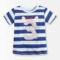 Number Series No. 3 Striped Baby Girls T Shirt 2016 Brand Summer Fashion Baby Girl Boutique Clothing Children t shirts kids wear