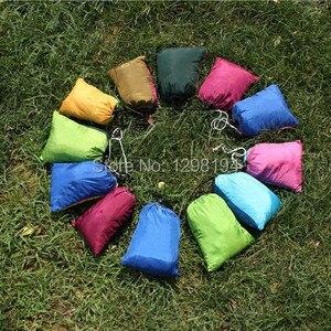 Image 3 - Double hamac Parachute en Nylon, facile à transporter, meuble dextérieur, 2 places, lit balançoire de couchage, survie Camping jardin voyage