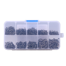200-600Pcs/Lots Durable Fishing Hook Jig Hooks with Hole Fly Fishing Tackle Box 3# -12# 10 Sizes Carbon Steel Fishing Hook