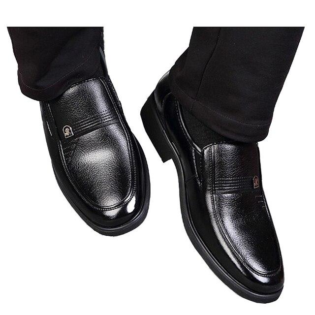 REETENE Fashion Slip-on Dress Men Shoes 2017 New Classic Black Men's Business Suits Shoes Fashion Flats Shoes Men