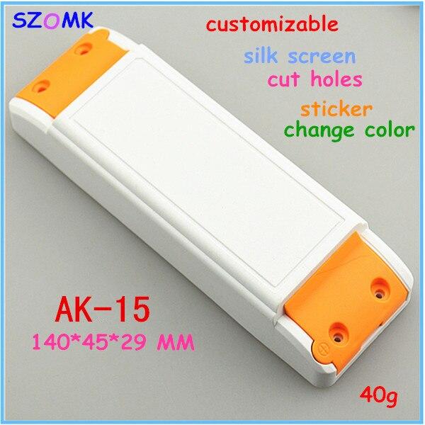 distribution enclosure LED plastic case (20 pcs) 140*45*29mm project box electronic case plastic housing for PCB abs plastic box