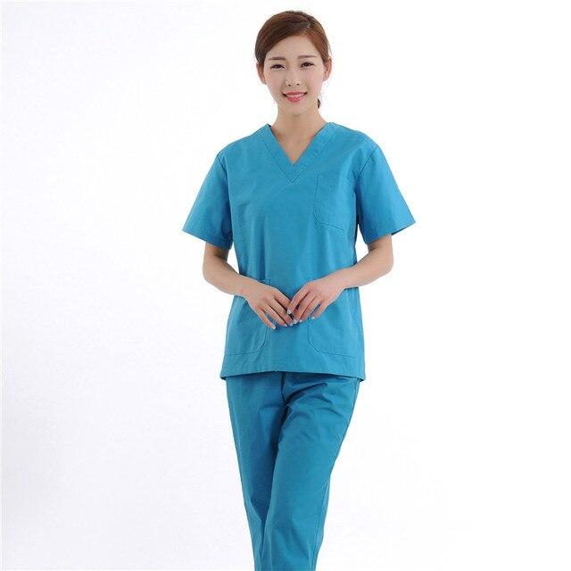 sale retailer 63788 b76a0 US $29.0 |Neue Frauen Medizinische Peeling Sets Krankenschwester  Krankenhaus Uniformen Dental Klinik Schönheit Salon Kurzarm Medizinische ...
