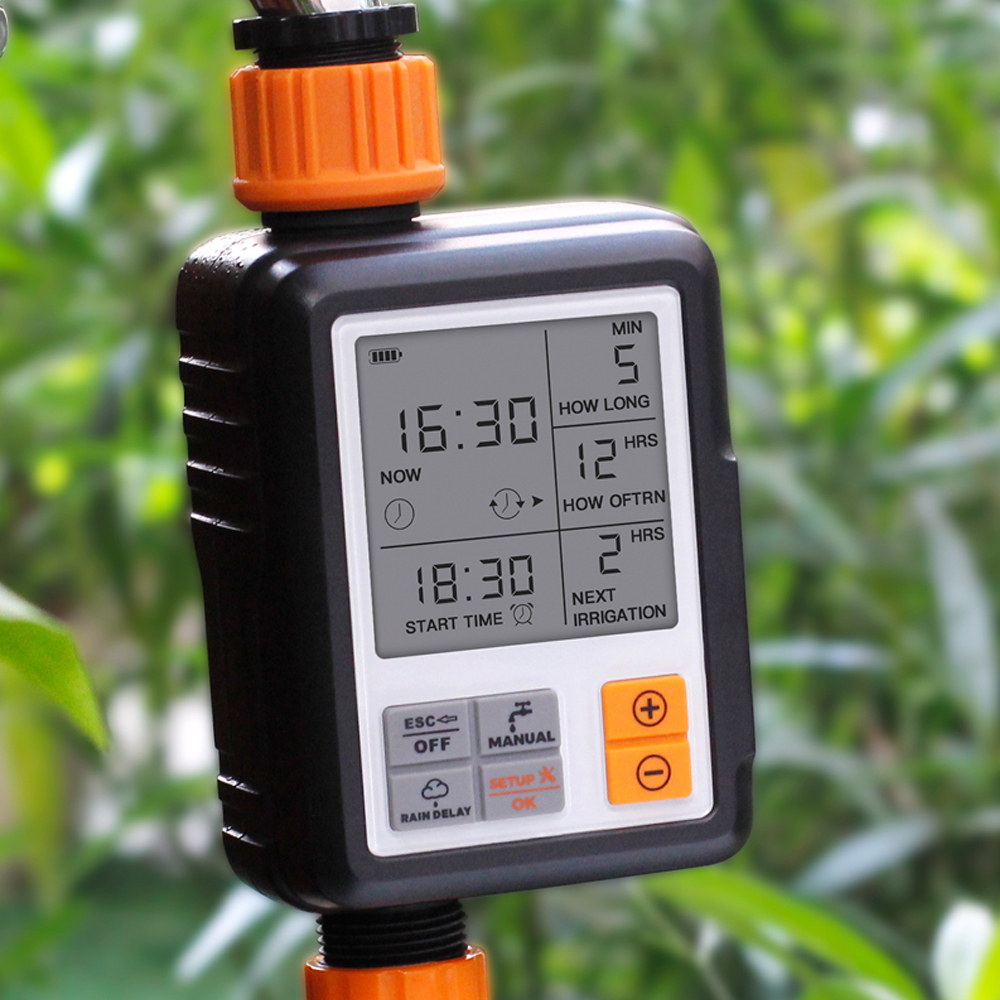 Intelligent Automatic Watering Irrigator For The Garden Water Timers Large Screen Irrigation System Sprinkler Controller Timer(China)