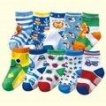 Бесплатная доставка (10 пар/лот) 100% хлопок мальчиков носки резиновые скольжению пола носки мультфильма маленькие дети носки 1-3 года