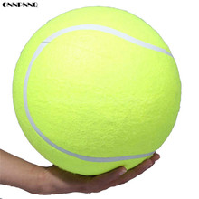 ONNPNNQ 24CM Big Inflatable Tennis Ball Giant Pet Toy Tennis Ball Dog Chew Toy