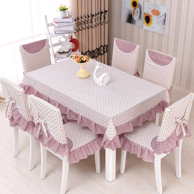Floral Pastoral Photo Printing Tablecloth Set Suit 130*180cm Table Cloth  Matching Chair Cover 3