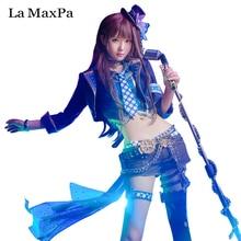 La idolm @ ster maxpa idol maestro cosplay juegos cosplay japanese anime costume girls mujeres animado de halloween lippstulip rin shibuya