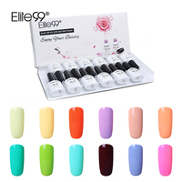Elite99 10ml Macaron Candy Color Pure Nail Gel Polish Gel Vernis Semi Permanant UV Gel Lacquer Home Enamel 12pcs With Gift Box