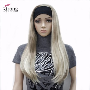 Image 4 - StrongBeauty Headband wigs Women Synthetic Capless Long Straight Hair Blonde/Black Natural Wigs