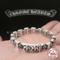 S925 sterling silver men's bracelet personality fashion classic jewelry punk style anchor shape 2018 new gift to send lover