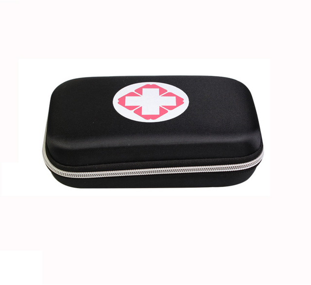 Black And Red Color First Aid Kits Portable 8