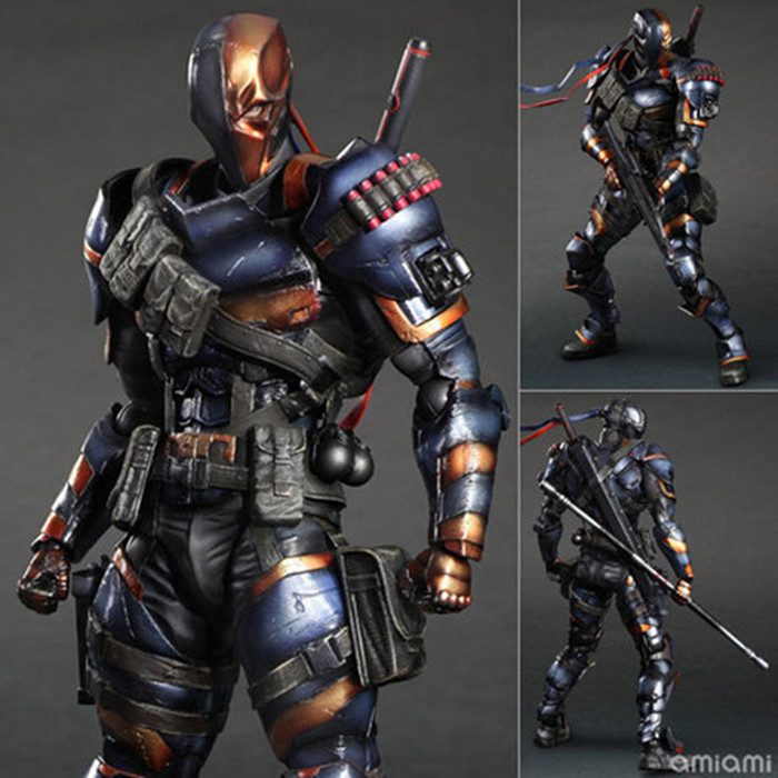 27cm SquareEnix Playarts KAI Batman Arkham Knight Deadpool action PVC Action Figures Model Toys Free shipping KB0715 playarts kai batman arkham knight batman blue limited ver brinquedos pvc action figure collectible model doll kids toys 28cm