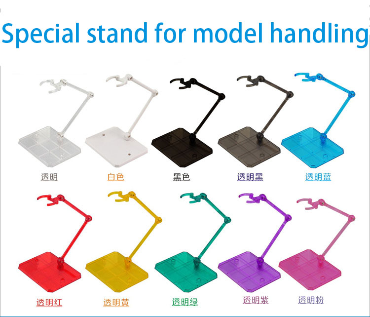 10 Pcs Action Figure Base Suitable Display Stand Bracket For 1/144 1/100 Hg/rg Sd Rabot/animation Stage Act Suit