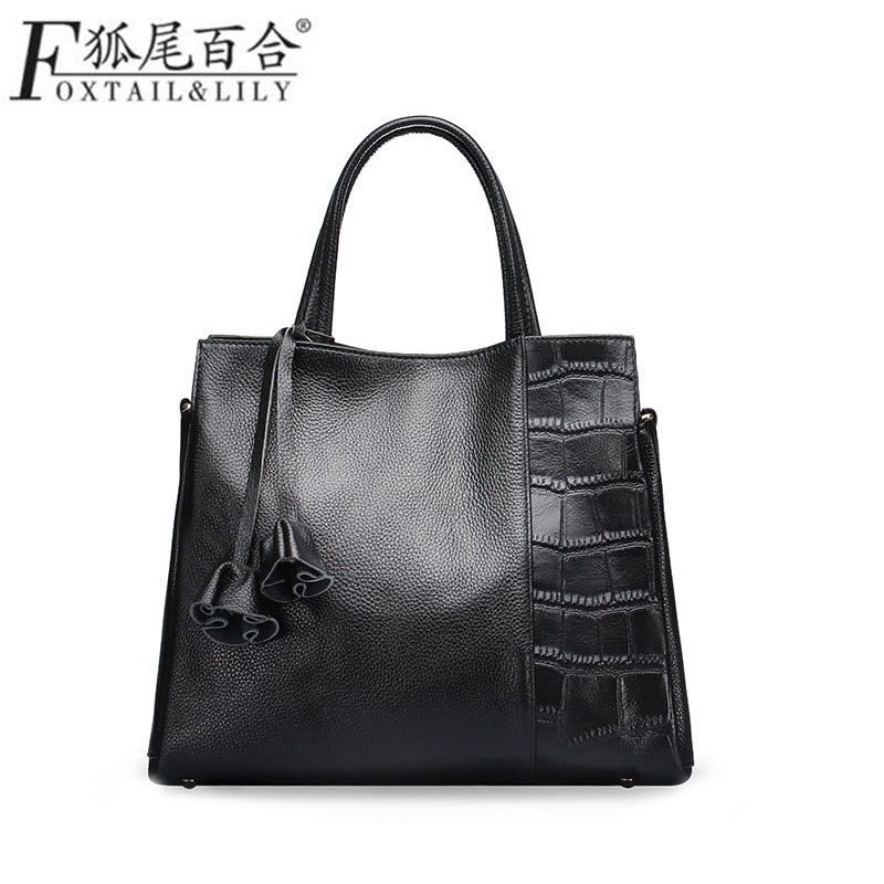Genuine Leather Handbag Women Bag  Bolsa Feminina Luxury Handbags Designer Sac a Main Femme De Marque Tassen Borse Shoulder Bags italian fashion top handle bags luxury handbags women bags designer patent leather shoulder bag canta sac a main femme de marque