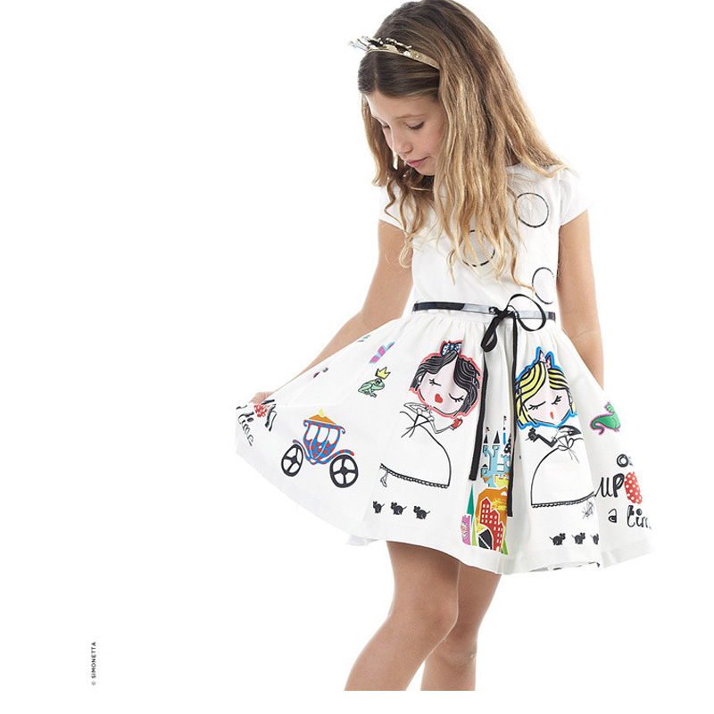 5435038cc19 Children Wear Summer Flower Girl Dress Fashion Girls Floral Dress Korean  Girl Dresses Cartoon Child Clothing Elsa Dress ...