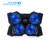 COOLCOLD 4 FAN 2 USB Laptop Cooler Air Exhaust Cooling Fan CPU Cooler for Notebook computer hardware cooling 12' 17' Notebook