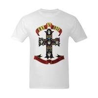 T Shirt Shop Men Guns N Roses Fashionable Design T Shirt Crew Neck Novelty Short Tees