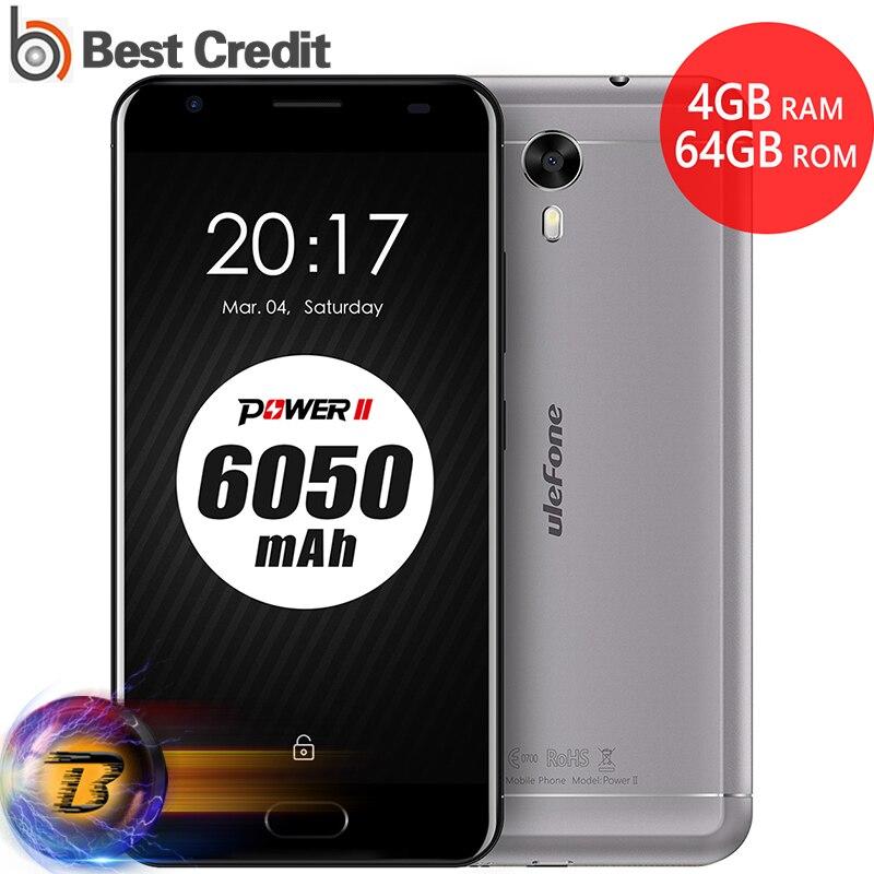 bilder für Ulefone Power 2 64 GB 6050 mah Handy Vorne Fingerabdruck 5,5 zoll Android 7.0 MTK6750T octa-core 1,5 GHz RAM 4 GB 1920x1080