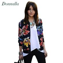 Flowers Print Baseball Jacket Women Cardigan Fashion 2016 Autumn Floral Overcoat Women Coat Jacket Outwear Long Sleeve Jackets