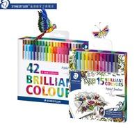 STAEDTLER Fineliner Pens 0 3mm Marker Metal Clad Tip Color Line15 42colors Office Accessories School Supplies