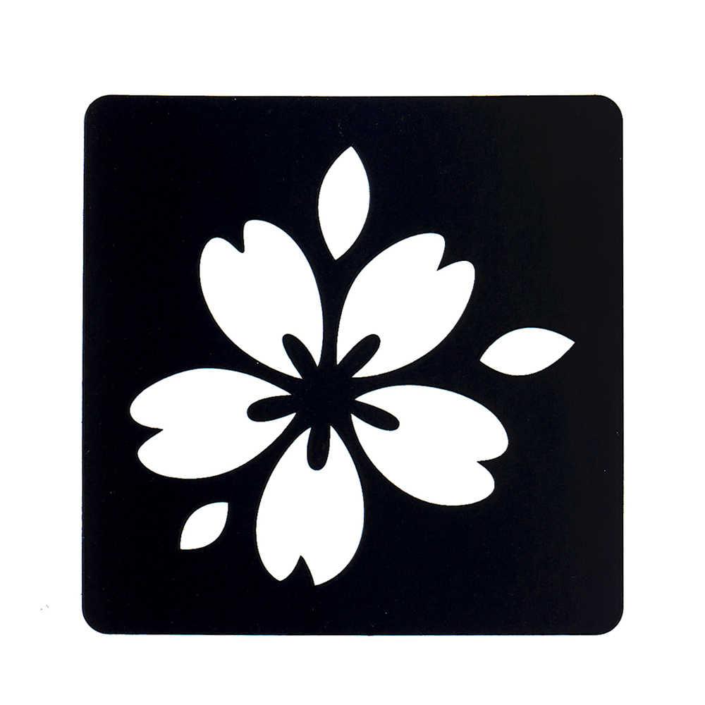 1 folha temporária airbrush pequena henna estêncil para mulher pintura da arte do corpo romântico sakura imagem diy tatuagem estêncil design g74