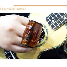 2 Sets Small Guitar Ukulele Finger Shaker Hammer Rhythm Cabasa Wear On Finger