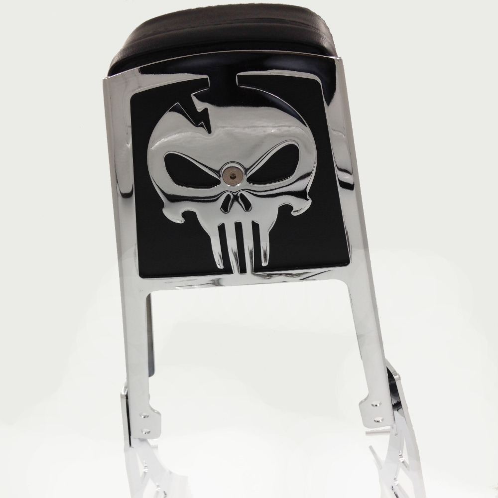 Aftermarket Motorcycle parts Skull Back rest Sissy Bar for Harley Davidson Sof-tail FLSTC FLSTF FLSTN FLSTS aftermarket free shipping motorcycle parts eliminator tidy tail for 2006 2007 2008 fz6 fazer 2007 2008b lack