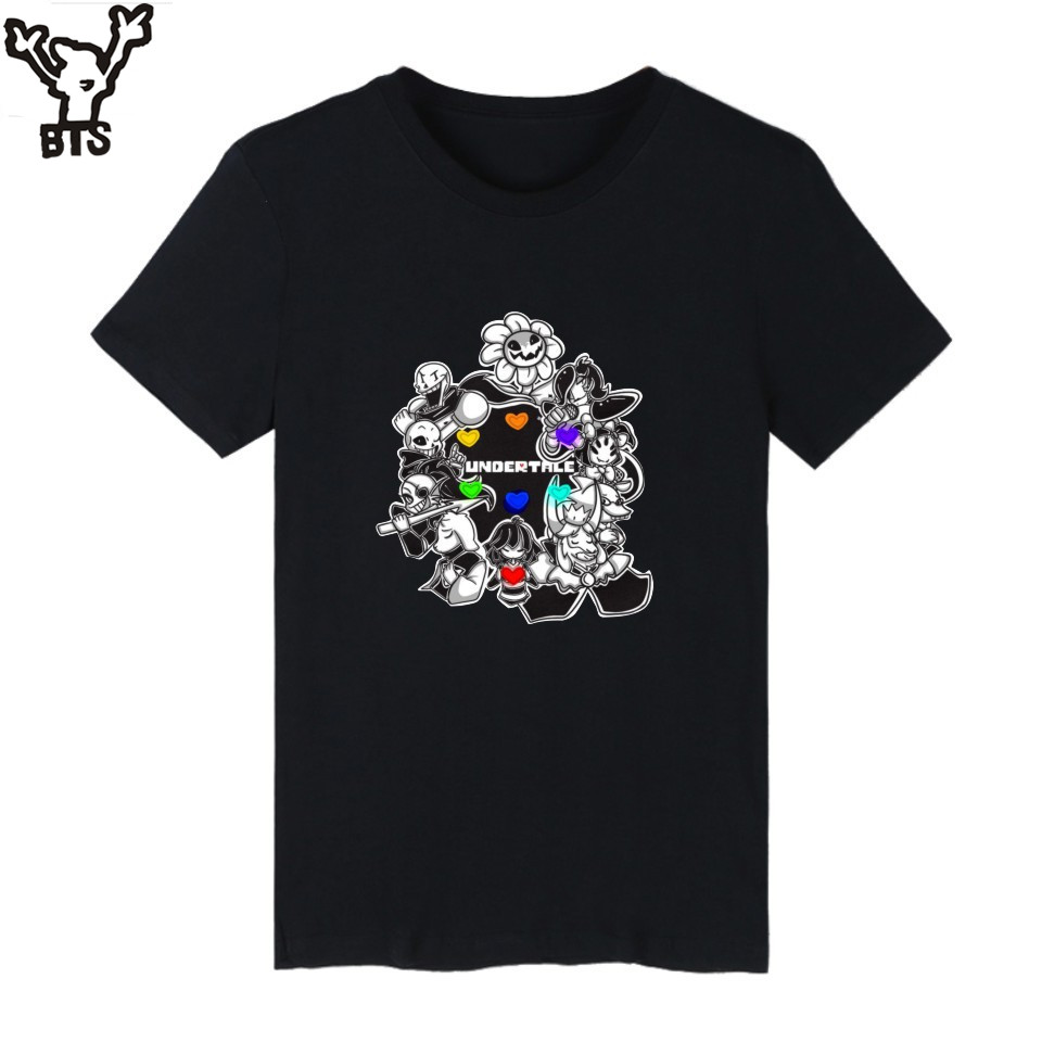 KPOP Undertale T-shirt Men Anime Short Sleeve TShirts And Undertale Sans T Shirt Men Hip Hop In Tee Shirts