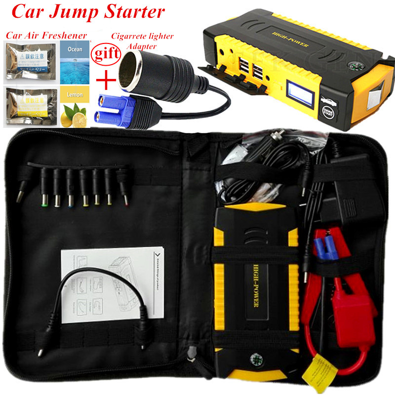 2018 Starting Device 600A Portable Car Jump Starter 4USB Power Bank 600A 12V Car Charger For