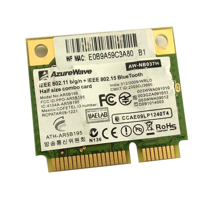 SSEA New Wholesale For AzureWave AW-NB037H AR9285 AR5B195 AR9002WB-1NGCD Half Mini PCI-E  Wifi Bluetooth3.0 Wlan Wireless Card