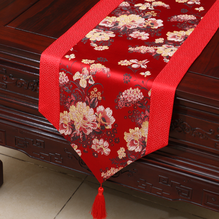 Patchwork Decor Elegant Damask Table Runners Coffee Rectangular Silk  Jacquard Table Cloth High Quality Dining Table Mat In Table Runners From  Home U0026 Garden ...