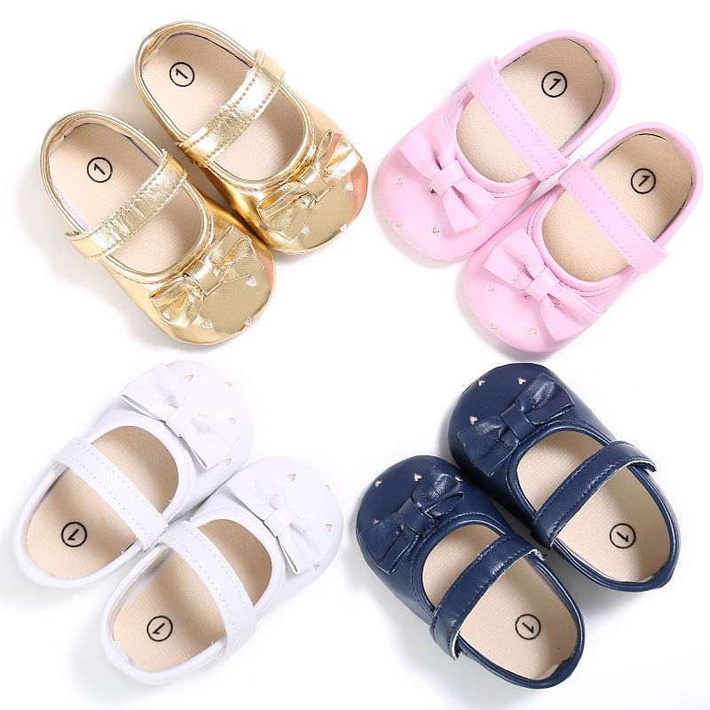 Princess Girls Bling Bling Spring Bow-knot Crib Babe Baby Shoes New Fashion Ballet Casual Cute Solid Anti-skid Mary Jane Shoe ...