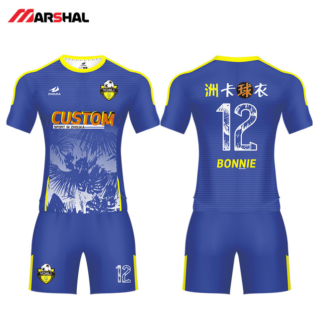 ef89f1fd8 2019 new Popular design football team uniforms soccer shirt maker custom  jerseys for sale with your own logo any colorful