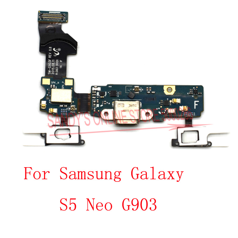 USB Charging Charge Port Dock Board Jack Plug Flex Cable For Samsung Galaxy S5 Neo S5neo G903 G903F SM-G903F Spare parts(China)