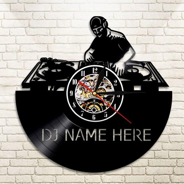 1 Stuk DJ Creatieve LP Vinyl Wandklok Muziek Led Verlichting ...