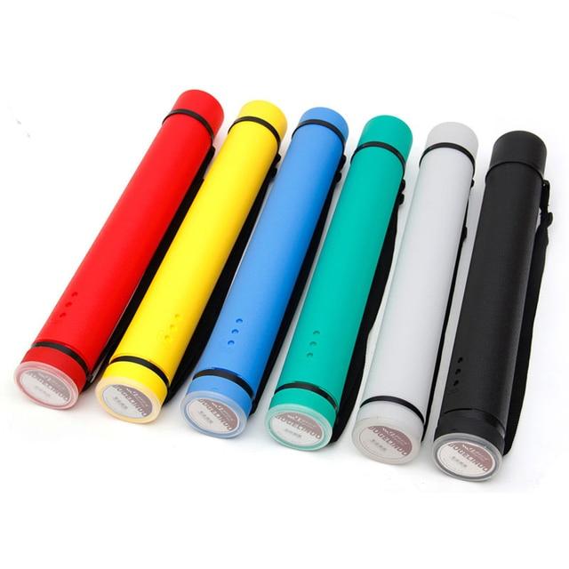 6 colori Piazza Tubo di Disegno Regolabile Tavolo Da Disegno Portatile di Grande Capacità Forte Poster Tubo Per Artisti